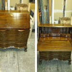 Refinished Antique Secretary Desk 01