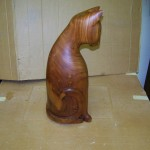 Butternut Wood Cat Sculpture Repair