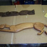 Sculpture Cat Carving Restoration
