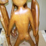 Koa Wood Figure Group Sculpture