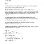 Steve Ellyson Letter
