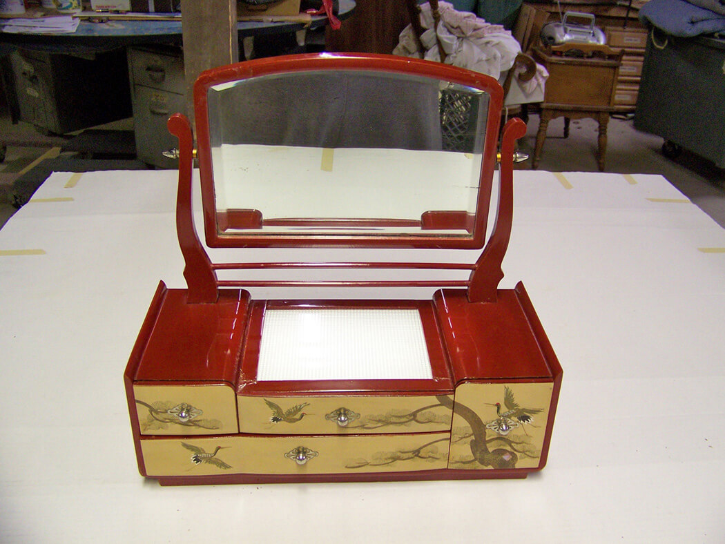 Restored Oriental Jewelry Box